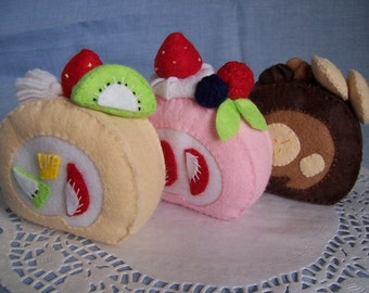 Roll Cakes -no.08-  PDF pattern