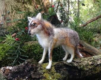 Handmade Needle Felted Wolf