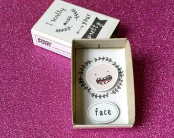 LDR card - Miss you cards - Matchbox art - Long distance relationship card - I miss you - Your face - Boyfriend card - Girlfriend Card