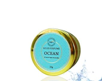 Ocean Solid Perfume, Vegan Perfume, Natural Perfume, Gift Idea