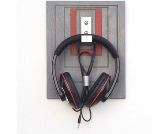 Headphone Rack - Headphone Holder, Headphone Hanger, Wall Mounted Headphone Holder, Headphone Stand, Tech Accessory, Gift for Men, Tech Gift