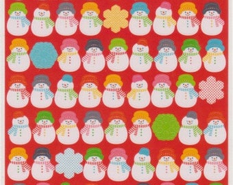 Snowman Stickers - Christmas Stickers - Reference A5082-84