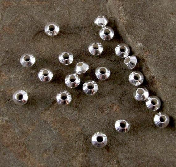 Sterling Silberperlen verkümmerte Doppelkegel 325 x 2mm