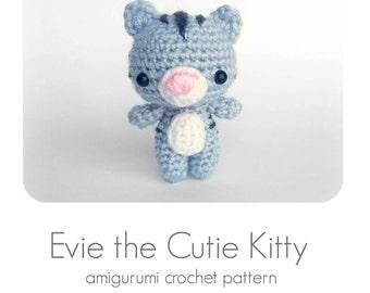 Pattern Tutorial: Crochet Cat Pattern, Amigurumi Cat Pattern, Crochet Kitten Pattern, Crochet Kitty Cat Pattern - English Only