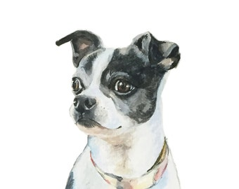 Pet Portrait - Small - Original Painting & drawing on Paper