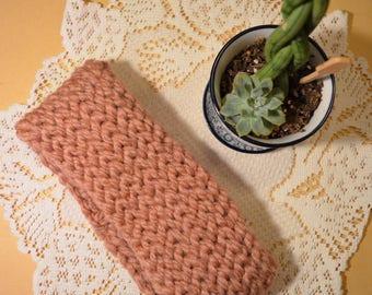Rose Pink Finger Crocheted Head Wrap