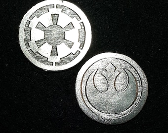 Rebel Imperial Heads or Tails Pewter Flipping Coin