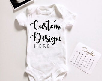 Personalized baby etsy cheap custom birth announcement onesie design a baby bodysuit personalized baby shower gift custom gender negle