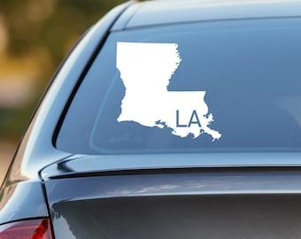 Louisiana Car Decal, State Decal, Louisiana Decal, Laptop Sticker, Laptop Decal, Car Sticker, Car Decal, Vinyl Decal, LA, Window Sticker