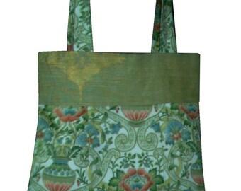 Floral Tote Bag / Lined / Pocket