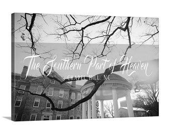 The Southern Part of Heaven - Chapel Hill, NC - Canvas - Black and White