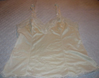 Vintage French Maid Cream Camisole; made in Canada