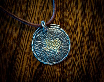 Silver and gold Texas pendant