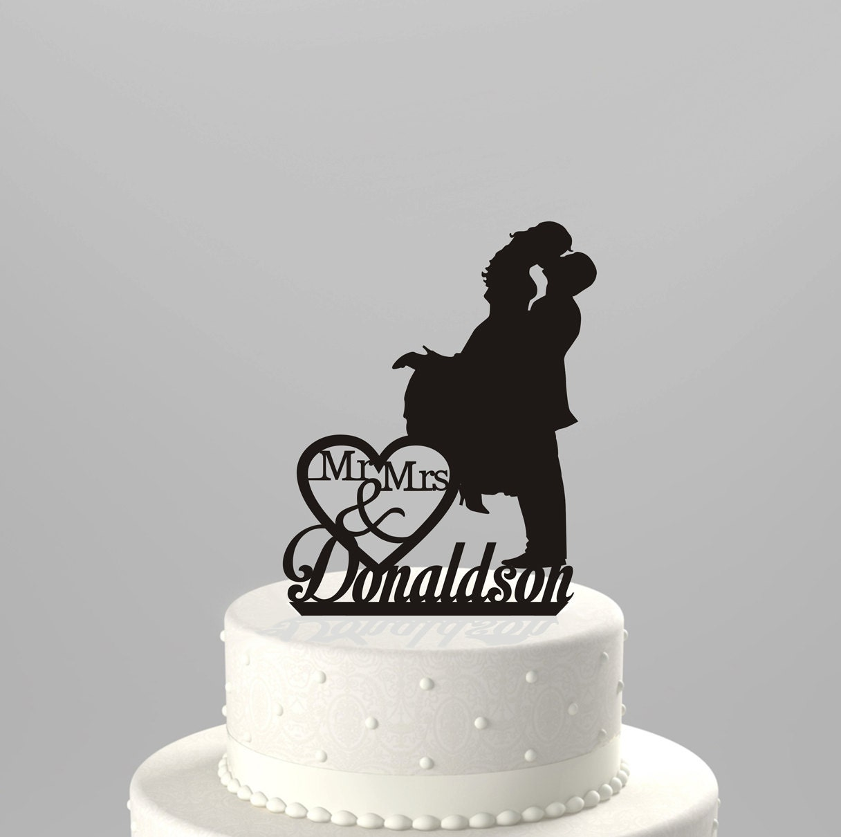 Wedding Cake Topper Laser Cut Names