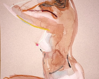 Nude painting- #1413 by Gretchen Kelly