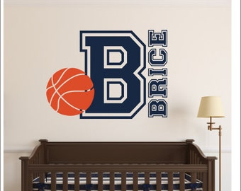 Basketball Wall Decal Personalized Basketball Decal Vinyl Wall Decal Boys  Girls Bedroom Decal Nursery Decal Wall