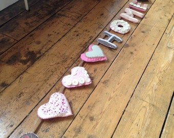 Home vintage style bunting