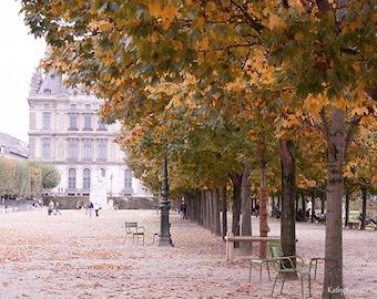 Paris Photography, Tuileries Park Gardens, Paris Autumn Fall Art Prints, Parisian Gardens, Paris Decor, Paris Prints, Paris Tuileries Park