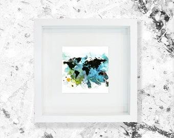 World Map Art Illustration Print
