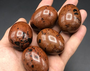 Jasper eggs - brown jasper eggs - beautiful eggs - natural stone eggs - healing stone eggs - gift for eggs lovers.Size 55x35 weight:70-100 G
