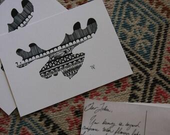 Moose Postcard (single)