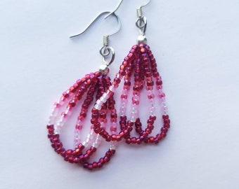 Hot Pink Short Dangle Earrings