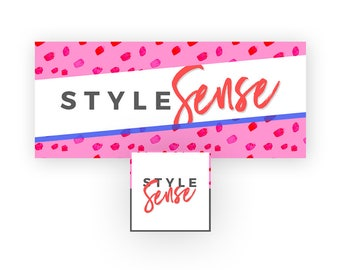 Fashion Brand Facebook Banner | Pink and Red Facebook Branding Kit | Lifestyle Page Cover in Hot Pink, Red, and Blue