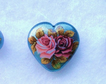 New Lovely Rose Bouquet on Metallic Silver Japanese Tensha Bead Set
