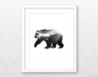 Bear Art Print | Bear Wall Art | Bear Print | Bear Decor | Bear | Bear Illustration | Animal Art Print | Bear Wall Decor | Bear Printable