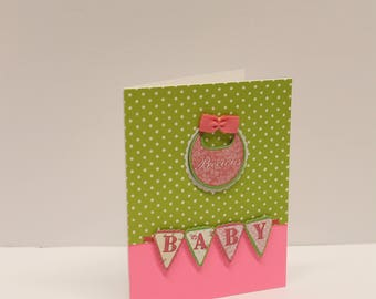 Precious baby girl congratulations card