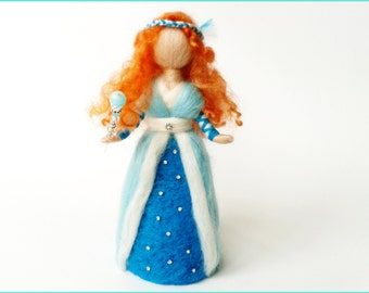 "Waldorf Doll ""Ice fairy"" felted wool"