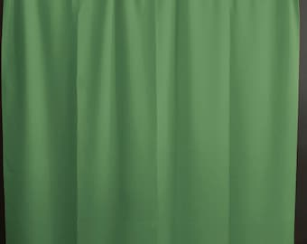 Solid Poplin Curtain Panel / Window Decor / Window Treatments / Backdrop Sage
