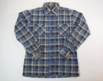 mens vintag Kingsport printed flannel shirt