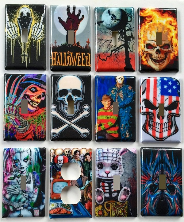 Horror Movie & Villains And Halloween Themed Light Switch And
