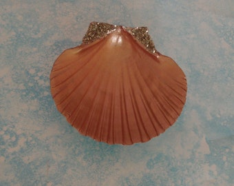 Copper color Scallop Seashell trinket dish, ring holder, jewelry holder, Mother's Day, nautical, jewelry box, Mermaid