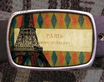 Paris Belt Buckle, Eiffel Tower Buckle, Shabby Chic 622 Groomsmen Wedding