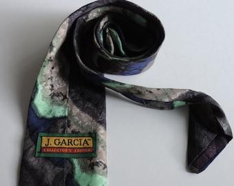 Vintage Necktie Men's 100% Silk Tie Jerry Garcia Collection J. Garcia Art in Neckwear Designer Neck Tie Stonehenge Ltd. Collector's Edition