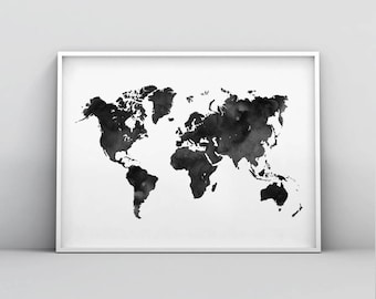 World map poster etsy gumiabroncs Image collections