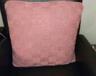 Handmade knitted pillow case