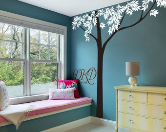 Nursery wall decals Wall sticker Home office decor, Ceiling Decal-Giant Top Tree-DK138
