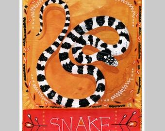Animal Totem Print - Snake