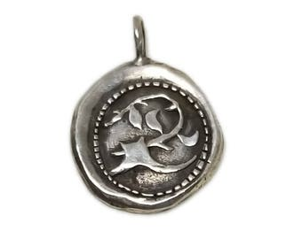 Sterling Silver Christian Jewelry Branch of Jesse Pendant Charm C17  134