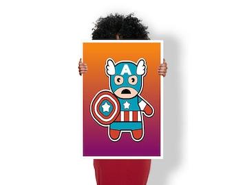 Captain America Avenger - Art Print / Poster / Cool Art - Any Size