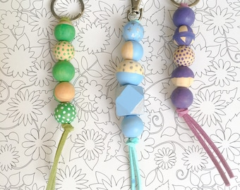 DIY Craft Kit: Wooden Beads keychains