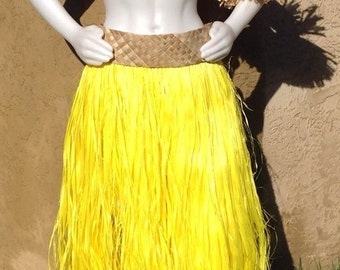 Banded Tapa Cloth Or  Weaved Lauhala Grass Skirts/Hula Skirt/Manafau..Choose Any Dyed Color Grass Skirt.