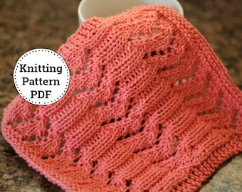 KNITTING PATTERN-Two Trackin', Dishcloth Pattern