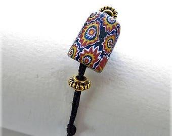 17579 millefiori Bead Bracelet