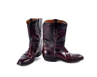Vintage Cordovan Lucchese Boots, Men's Size 9 D