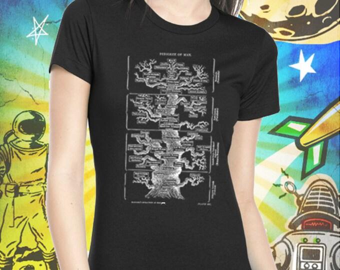 Pedigree of Man / Ernst Haeckel / Women's Jet Black T-Shirt