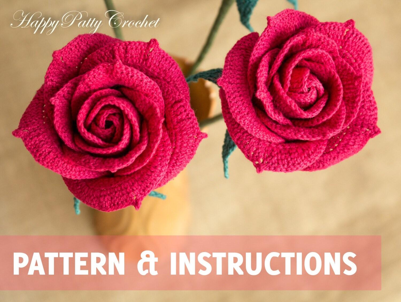 Crochet Rose Pattern Crochet Flower Pattern Crochet Rose